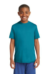 Tropic Blue Sport-Tek Youth Competitor Tee as seen from the front