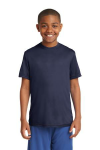 True Navy Sport-Tek Youth Competitor Tee as seen from the front