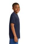 True Navy Sport-Tek Youth Competitor Tee as seen from the sleeveright