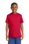 True Red Sport-Tek Youth Competitor Tee as seen from the front