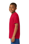 True Red Sport-Tek Youth Competitor Tee as seen from the sleeveleft