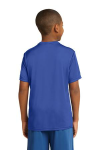 True Royal Sport-Tek Youth Competitor Tee as seen from the back