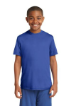 True Royal Sport-Tek Youth Competitor Tee as seen from the front