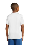 White Sport-Tek Youth Competitor Tee as seen from the back