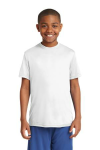 White Sport-Tek Youth Competitor Tee as seen from the front