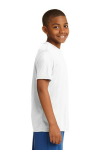 White Sport-Tek Youth Competitor Tee as seen from the sleeveright