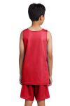 True Red Wh Sport-Tek Youth PosiCharge Classic Mesh ™ Reversible Tank as seen from the back