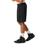 Black Sport-Tek Youth PosiCharge Classic Mesh ™ Short as seen from the sleeveleft
