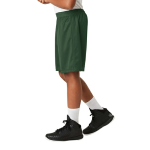 Forest Green Sport-Tek Youth PosiCharge Classic Mesh ™ Short as seen from the sleeveleft
