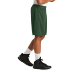 Forest Green Sport-Tek Youth PosiCharge Classic Mesh ™ Short as seen from the sleeveright