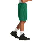 Kelly Green Sport-Tek Youth PosiCharge Classic Mesh ™ Short as seen from the sleeveright