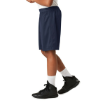 True Navy Sport-Tek Youth PosiCharge Classic Mesh ™ Short as seen from the sleeveleft