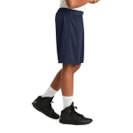 True Navy Sport-Tek Youth PosiCharge Classic Mesh ™ Short as seen from the sleeveright