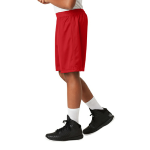 True Red Sport-Tek Youth PosiCharge Classic Mesh ™ Short as seen from the sleeveleft