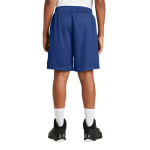 True Royal Sport-Tek Youth PosiCharge Classic Mesh ™ Short as seen from the back