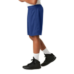 True Royal Sport-Tek Youth PosiCharge Classic Mesh ™ Short as seen from the sleeveleft