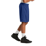 True Royal Sport-Tek Youth PosiCharge Classic Mesh ™ Short as seen from the sleeveright
