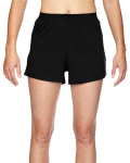 Black Juniors' Jersey-Knit Cheer Short as seen from the front