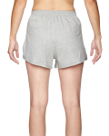 Grey Heather Juniors' Jersey-Knit Cheer Short as seen from the back