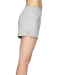 Grey Heather Juniors' Jersey-Knit Cheer Short as seen from the sleeveleft