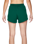 Hunter Green Juniors' Jersey-Knit Cheer Short as seen from the back