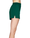 Hunter Green Juniors' Jersey-Knit Cheer Short as seen from the sleeveleft