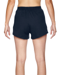 Navy Juniors' Jersey-Knit Cheer Short as seen from the back