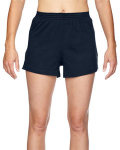 Navy Juniors' Jersey-Knit Cheer Short as seen from the front