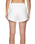 White Juniors' Jersey-Knit Cheer Short as seen from the back