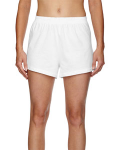 White Juniors' Jersey-Knit Cheer Short as seen from the front
