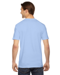 Baby Blue MADE IN USA Unisex Fine Jersey Short Sleeve T-Shirt as seen from the back