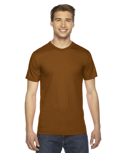 Camel MADE IN USA Unisex Fine Jersey Short Sleeve T-Shirt as seen from the front