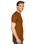 Camel MADE IN USA Unisex Fine Jersey Short Sleeve T-Shirt as seen from the sleeveleft