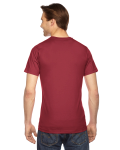 Cranberry MADE IN USA Unisex Fine Jersey Short Sleeve T-Shirt as seen from the back