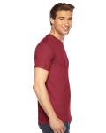 Cranberry MADE IN USA Unisex Fine Jersey Short Sleeve T-Shirt as seen from the sleeveleft