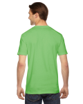 Grass MADE IN USA Unisex Fine Jersey Short Sleeve T-Shirt as seen from the back