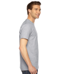 Heather Grey MADE IN USA Unisex Fine Jersey Short Sleeve T-Shirt as seen from the sleeveleft