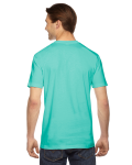 Mint MADE IN USA Unisex Fine Jersey Short Sleeve T-Shirt as seen from the back