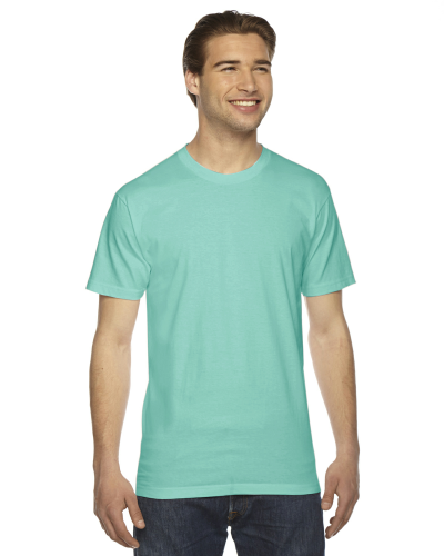 Mint MADE IN USA Unisex Fine Jersey Short Sleeve T-Shirt as seen from the front