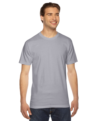 Slate MADE IN USA Unisex Fine Jersey Short Sleeve T-Shirt as seen from the front