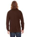 Brown MADE IN USA Unisex Fine Jersey Long-Sleeve T-Shirt as seen from the back