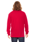 Red MADE IN USA Unisex Fine Jersey Long-Sleeve T-Shirt as seen from the back