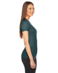 Forest MADE IN USA Ladies' Fine Jersey Short-Sleeve T-Shirt as seen from the sleeveleft