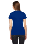 Lapis MADE IN USA Ladies' Fine Jersey Short-Sleeve T-Shirt as seen from the back