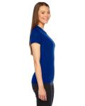 Lapis MADE IN USA Ladies' Fine Jersey Short-Sleeve T-Shirt as seen from the sleeveleft