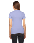 Lavender MADE IN USA Ladies' Fine Jersey Short-Sleeve T-Shirt as seen from the back