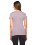 Mauve MADE IN USA Ladies' Fine Jersey Short-Sleeve T-Shirt as seen from the back