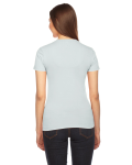Seafoam MADE IN USA Ladies' Fine Jersey Short-Sleeve T-Shirt as seen from the back