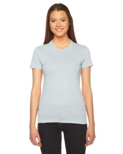 Seafoam MADE IN USA Ladies' Fine Jersey Short-Sleeve T-Shirt as seen from the front