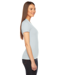 Seafoam MADE IN USA Ladies' Fine Jersey Short-Sleeve T-Shirt as seen from the sleeveleft
